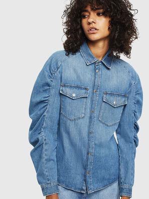 DE-RINGY-R, Bleu Clair - Chemises en Denim
