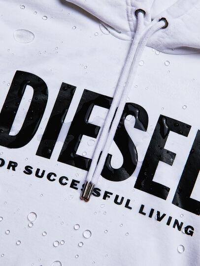 Diesel - S-GIR-HOOD-DIVISION-, Blanc - Pull Cotton - Image 5