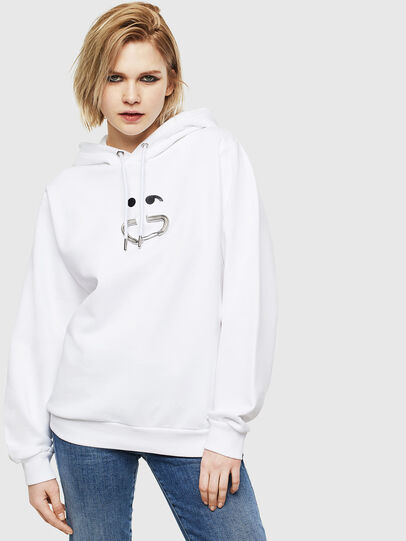 Diesel - F-ANG-HOOD-S1, Blanc - Pull Cotton - Image 1