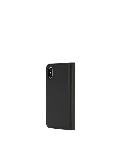 Diesel - SLIM LEATHER FOLIO IPHONE X, Noir - Coques à rabat - Image 5
