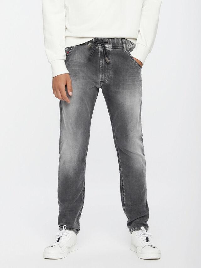 Diesel - Krooley JoggJeans 0855B, Gris Clair - Jeans - Image 1
