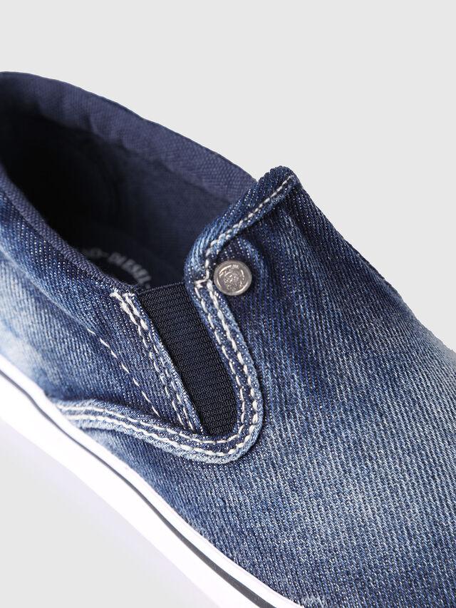 Diesel - SLIP ON 21 DENIM CH, Jean Bleu - Footwear - Image 4