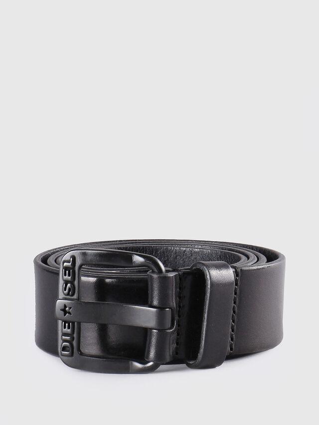 Diesel - B-STAR, Cuir Noir - Ceintures - Image 1