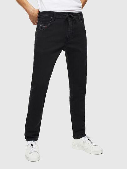 Diesel - Krooley JoggJeans 0687Z, Noir/Gris foncé - Jeans - Image 1