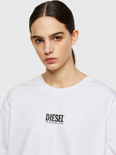 Diesel - D-BOWI-SMALLOGO, Blanc - Robes - Image 3