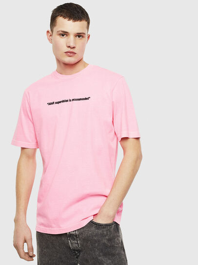 Diesel - T-JUST-NEON, Rose - T-Shirts - Image 1