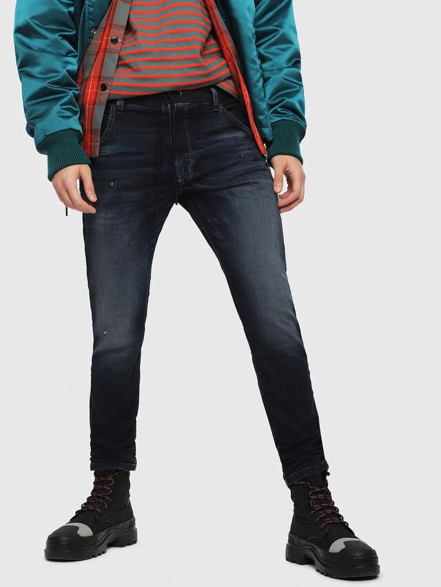 Diesel - Krooley JoggJeans 069DQ, Bleu Foncé - Jeans - Image 1