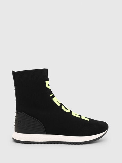 Diesel - SLIP ON 04 MID SOCK, Noir - Footwear - Image 1