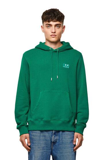 Sweat-shirt à capuche Green Label avec logo emoji