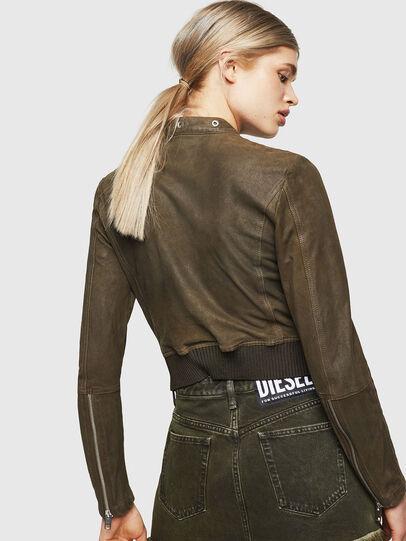 Diesel - L-LYSSA-G, Vert Militaire - Vestes de cuir - Image 2
