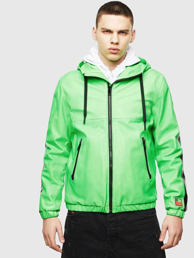 L-CARRSY, Vert Fluo - Vestes de cuir