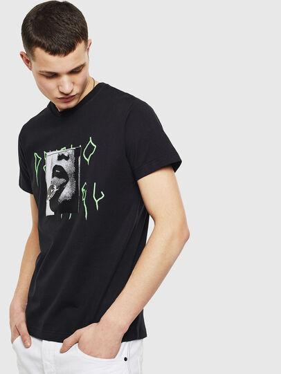 Diesel - T-DIEGO-S12, Noir - T-Shirts - Image 1