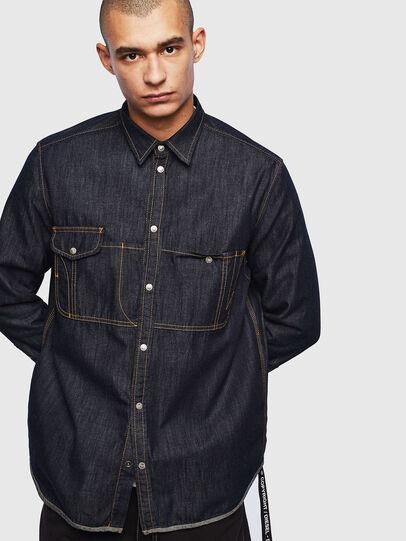 Diesel - D-MILLY, Bleu Foncé - Chemises en Denim - Image 1