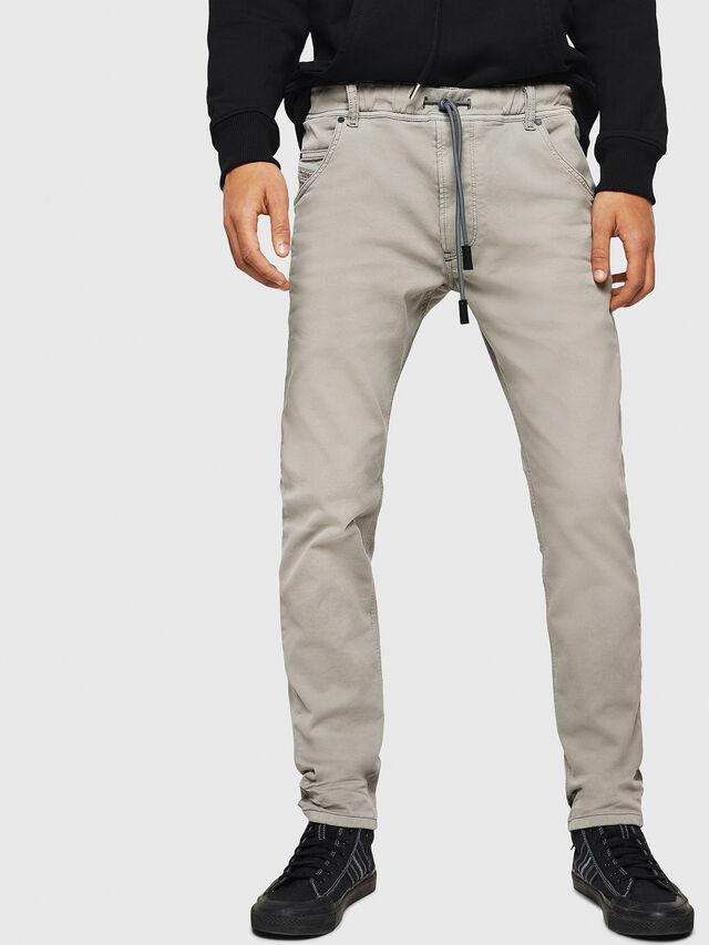 Diesel - Krooley JoggJeans 0670M, Gris Clair - Jeans - Image 1