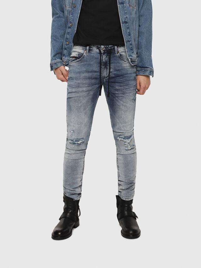 Diesel - Thommer JoggJeans 069FC, Bleu moyen - Jeans - Image 1