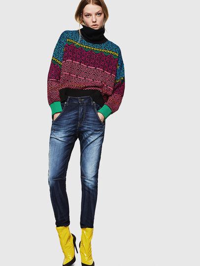 Diesel - Fayza JoggJeans 069IE, Bleu Foncé - Jeans - Image 6