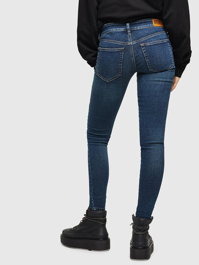 Diesel - Slandy Low 069KW, Bleu Foncé - Jeans - Image 2