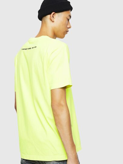 Diesel - T-JUST-SLITS-FLUO, Jaune Fluo - T-Shirts - Image 3