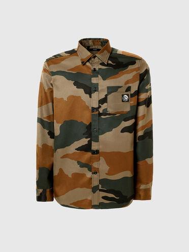 Chemise en sergé à imprimé camouflage