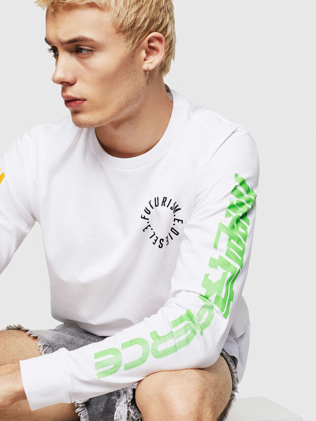 Diesel - T-JUST-LS-Y1, Blanc - T-Shirts - Image 3
