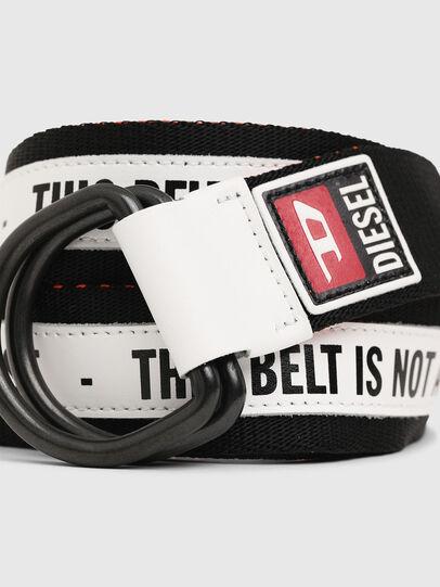 Diesel - B-RETA, Noir/Blanc - Ceintures - Image 2