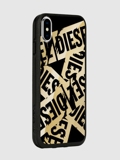 Diesel - MULTI TAPE GOLD/BLACK IPHONE X CASE, Or - Coques - Image 6
