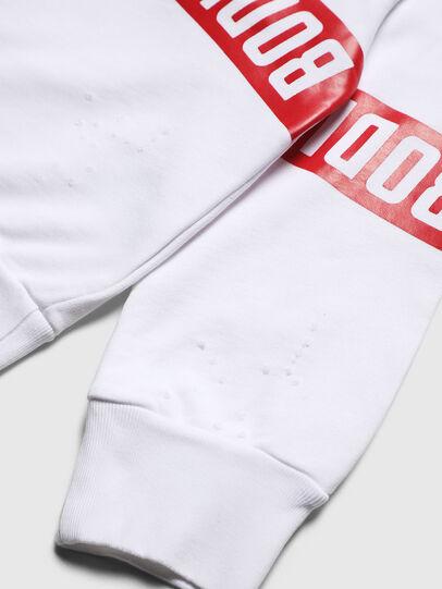 Diesel - SBAYHOLES OVER, Blanc/Rouge - Pull Cotton - Image 4
