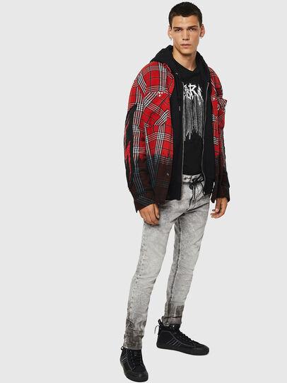 Diesel - Krooley JoggJeans 0091H, Gris Clair - Jeans - Image 7