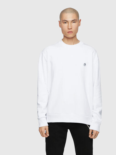 Diesel - S-LINK, Blanc - Pull Cotton - Image 1
