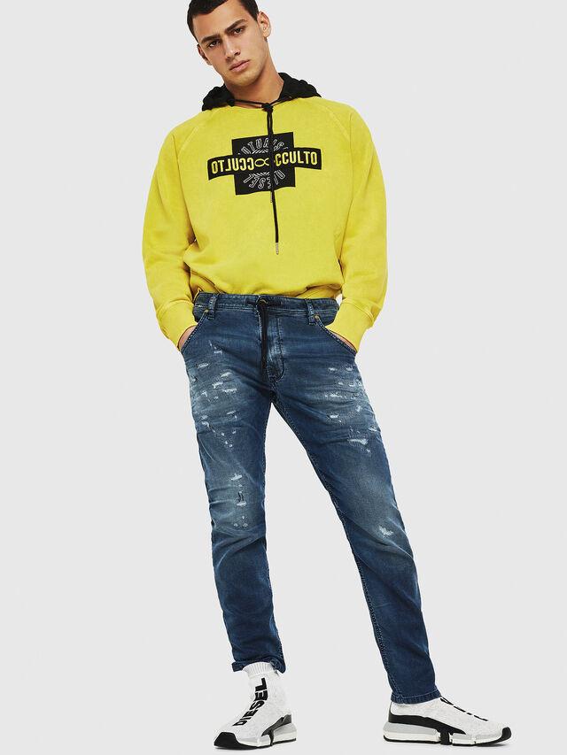 Diesel - Krooley JoggJeans 069HA, Bleu moyen - Jeans - Image 5