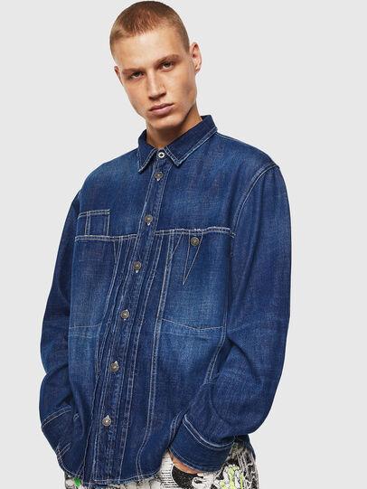 Diesel - D-FLOX, Bleu moyen - Chemises en Denim - Image 1