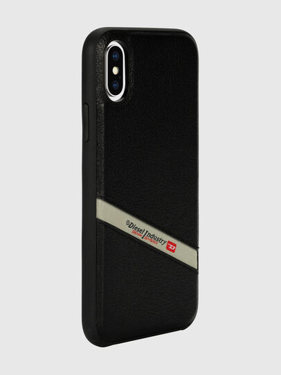 Diesel - DIESEL LEATHER CO-MOLD CASE FOR IPHONE XS & IPHONE X, Noir - Coques - Image 6