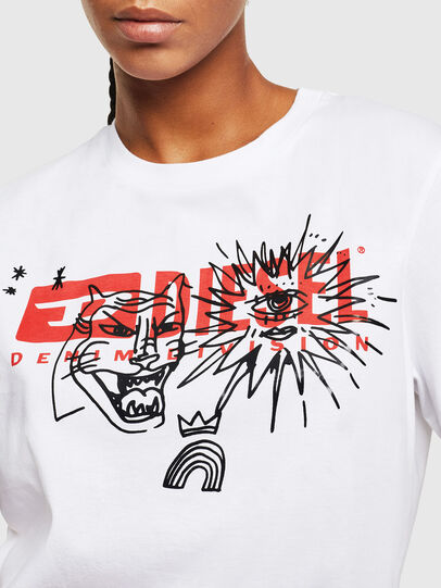 Diesel - T-DARIA-YC, Blanc - T-Shirts - Image 3