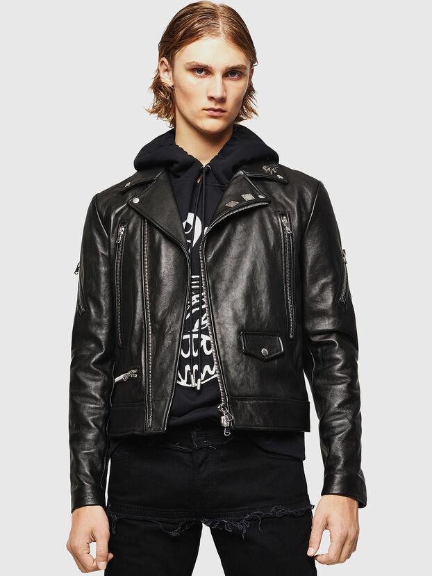 L-PERF, Noir - Vestes de cuir