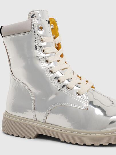 Diesel - HB LACE UP 04 YO, Gris argenté - Footwear - Image 4