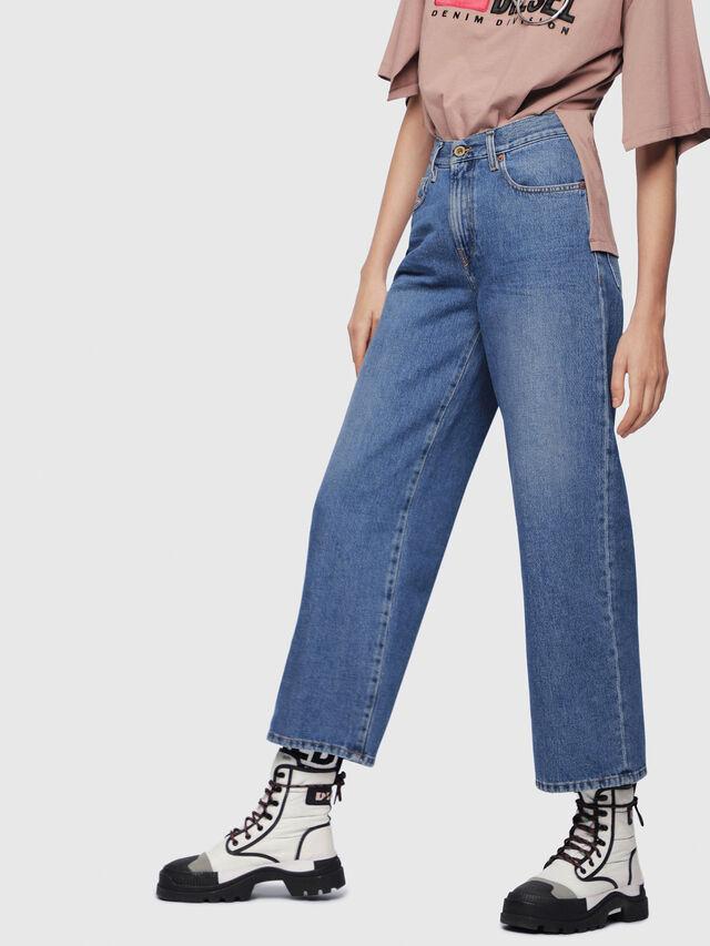 Diesel - Widee 080AN, Bleu moyen - Jeans - Image 1