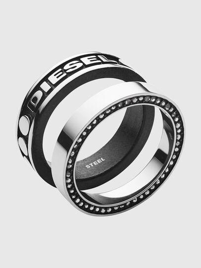 Diesel - DX1170, Gris argenté/Noir - Bagues - Image 1
