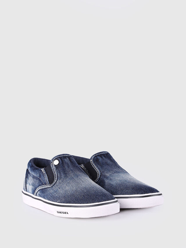 Diesel - SLIP ON 21 DENIM CH, Jean Bleu - Footwear - Image 2