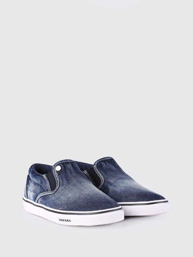 Diesel - SLIP ON 21 DENIM CH, Jean Bleu - Footwear - Image 2