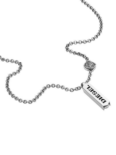 Diesel - NECKLACE DX0997, Gris argenté - Colliers - Image 2