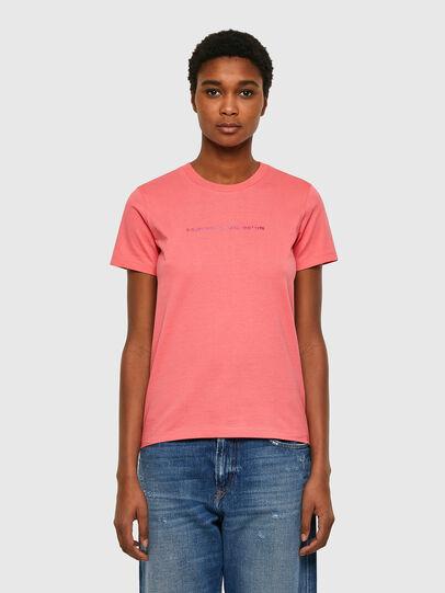 Diesel - T-SILY-COPY, Rose Poudré - T-Shirts - Image 1