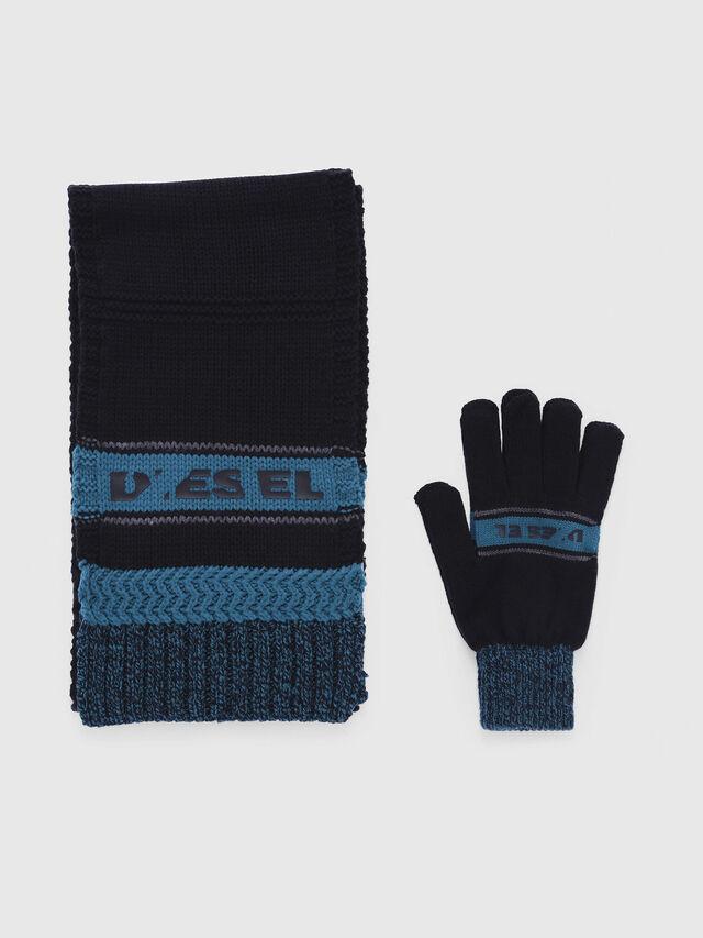 Diesel - CADO-KIT, Noir/Bleu - Écharpes - Image 1