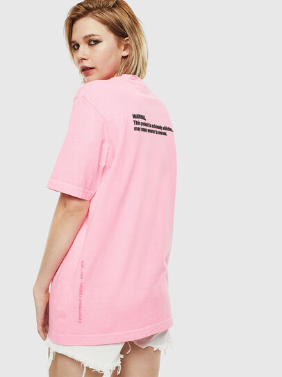 Diesel - T-JUST-NEON, Rose - T-Shirts - Image 4