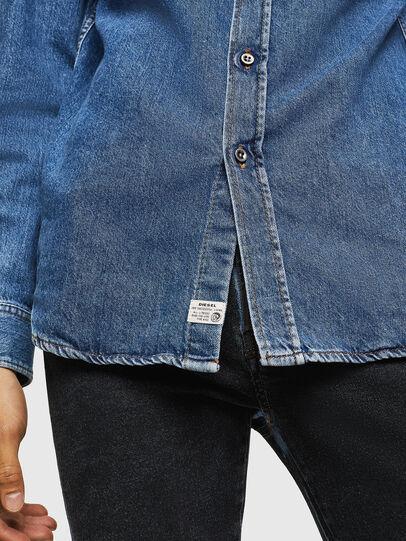 Diesel - D-BER-P, Bleu moyen - Chemises en Denim - Image 5