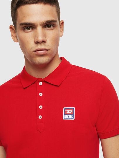 Diesel - T-KAL-PATCH, Rouge - Polos - Image 3