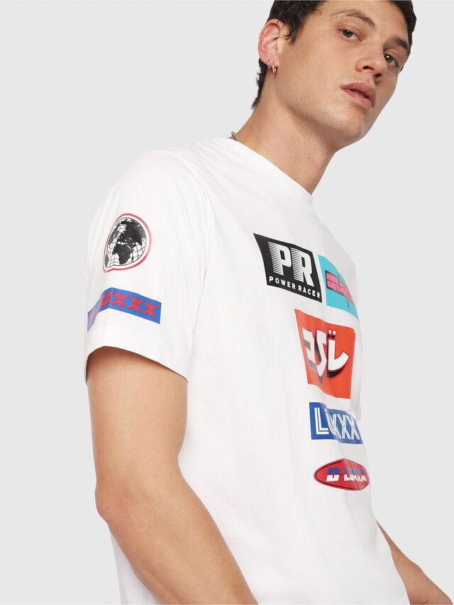 Diesel - T-JUST-YA, Blanc - T-Shirts - Image 4