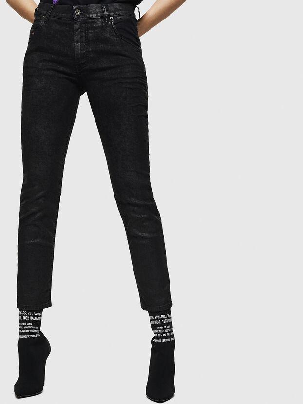 Krailey JoggJeans 084AG, Noir/Gris foncé - Jeans