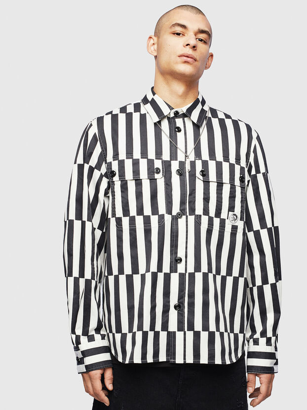 S-JESSY-B, Blanc/Noir - Chemises