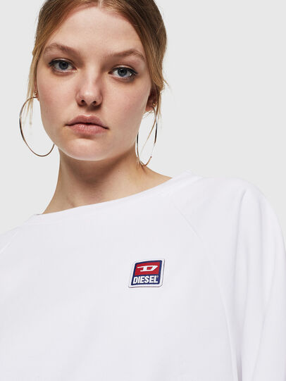 Diesel - F-HENNY-E, Blanc - Pull Cotton - Image 3