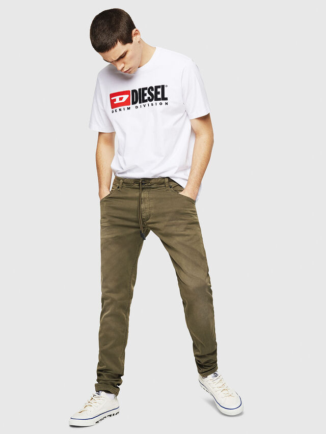 Diesel - Krooley Long JoggJeans 0670M, Vert Militaire - Jeans - Image 4